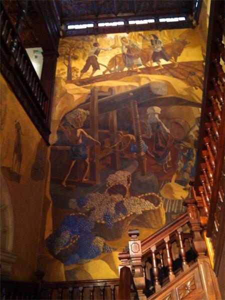 Mural by Mariano de Cossio in Santa Cruz town hall, La Palma island