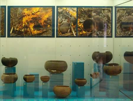 Benahoara ceramic in the museum in Los Llanos, La Palma