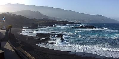 Los Cancajos beach, Bre;a Baja pon a windy day