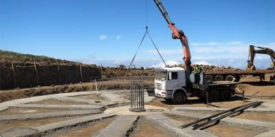 Concrete base installed for the Large Size Telescope, Roque de LosMuchachos, La Palma